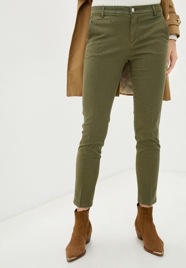 женские повседневные брюки united colors of benetton, хаки