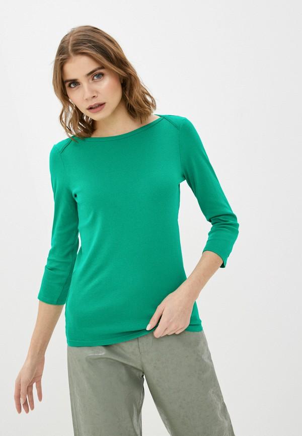 Лонгслив United Colors of Benetton зеленого цвета