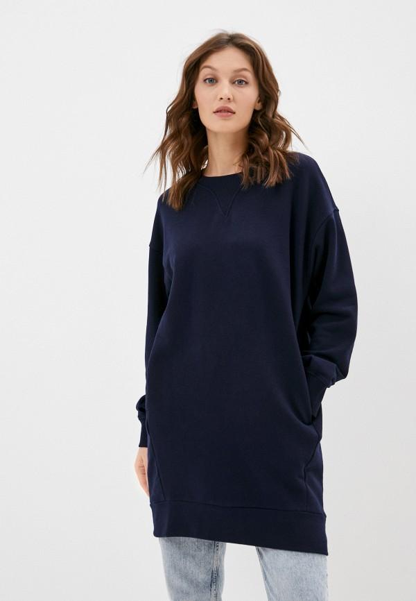 женское платье-толстовки united colors of benetton, синее