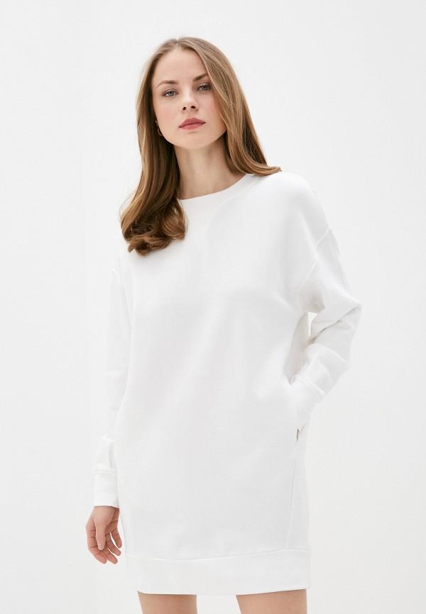 женское платье-толстовки united colors of benetton, белое