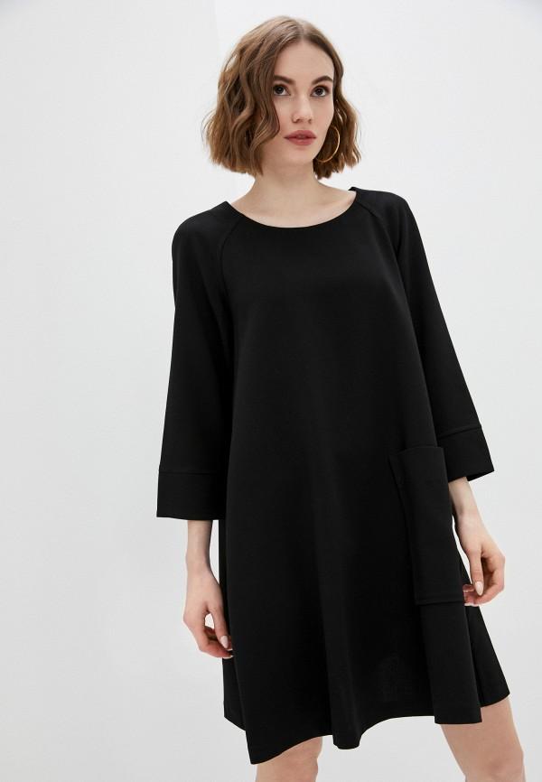 женское платье-толстовки united colors of benetton, черное