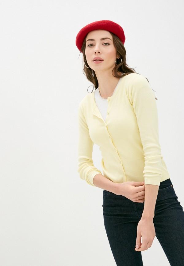 женский кардиган united colors of benetton, желтый