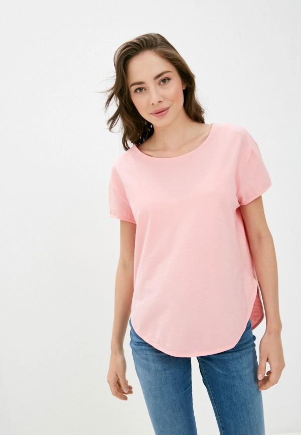 женская футболка united colors of benetton, розовая