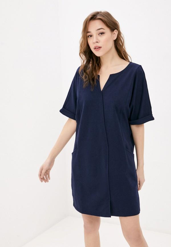 женское платье-футболки united colors of benetton, синее