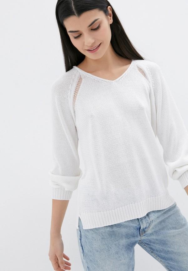 женский пуловер united colors of benetton, белый