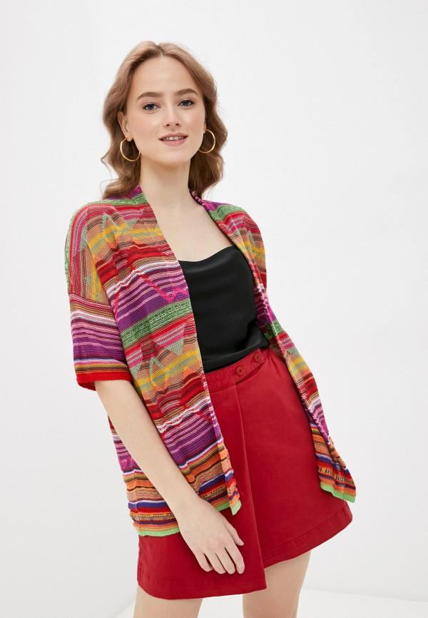 женский кардиган united colors of benetton, разноцветный