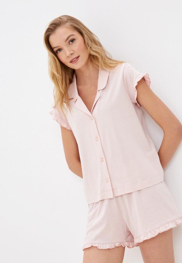 женская пижама united colors of benetton, розовая