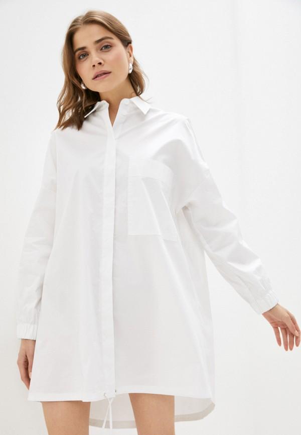 женское платье united colors of benetton, белое