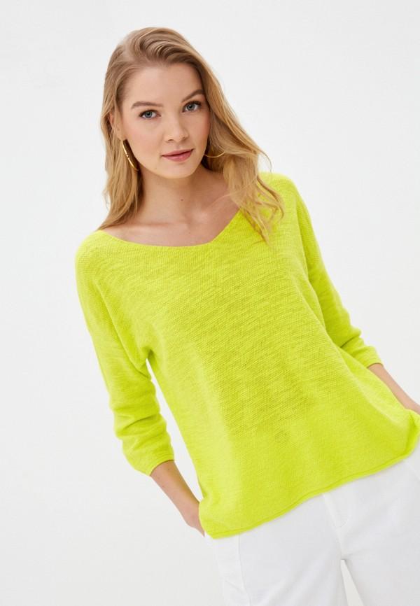 женский пуловер united colors of benetton, зеленый