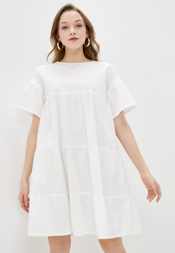 женское повседневные платье united colors of benetton, белое