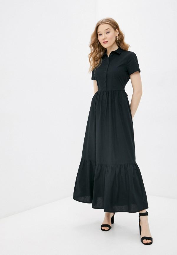 женское платье united colors of benetton, черное