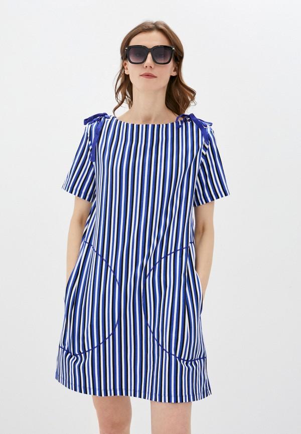 женское повседневные платье united colors of benetton, синее