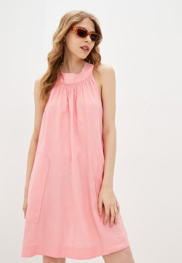 женское повседневные платье united colors of benetton, розовое