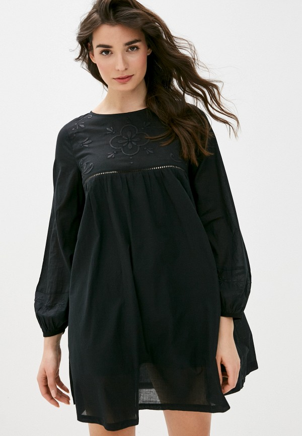 женское повседневные платье united colors of benetton, черное