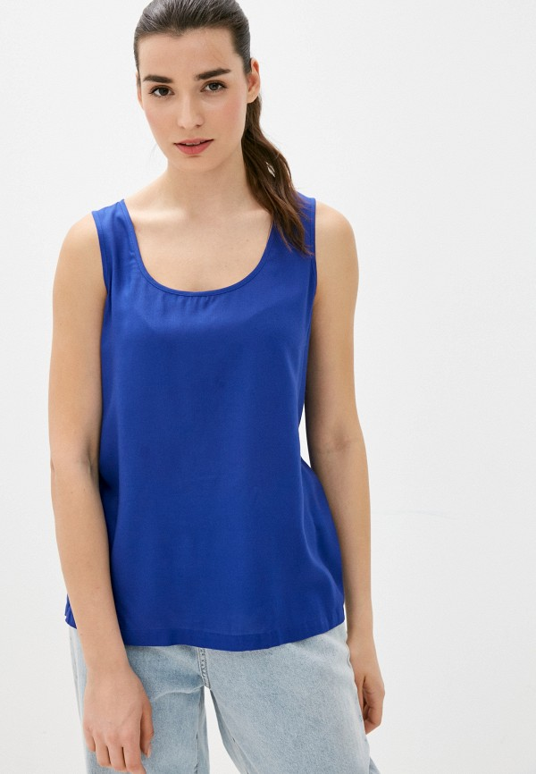 женский топ united colors of benetton, синий