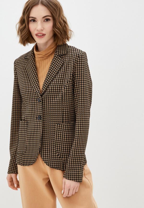 женский пиджак united colors of benetton, коричневый