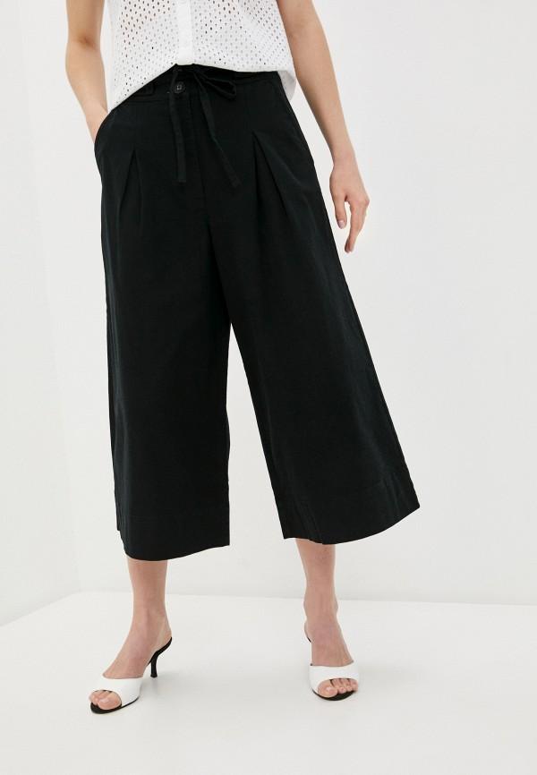 женские брюки кюлоты united colors of benetton, черные