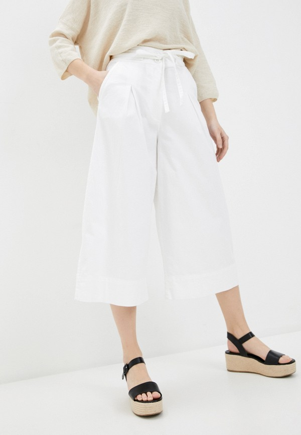 женские брюки кюлоты united colors of benetton, белые