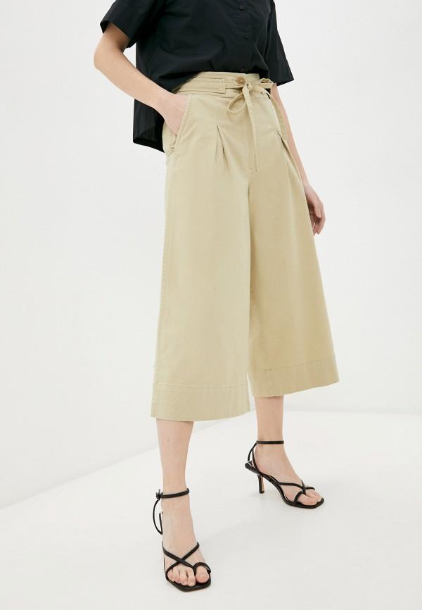 женские брюки кюлоты united colors of benetton, бежевые
