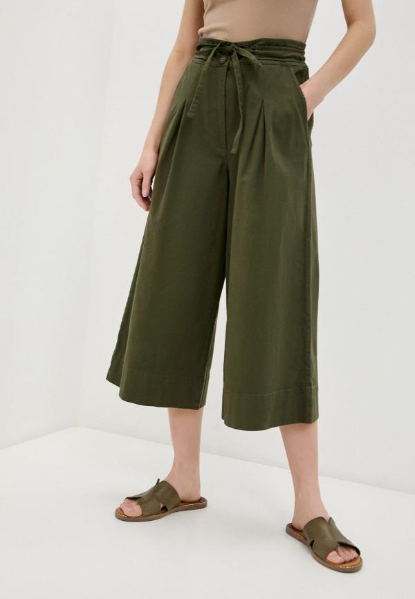 женские брюки кюлоты united colors of benetton, хаки