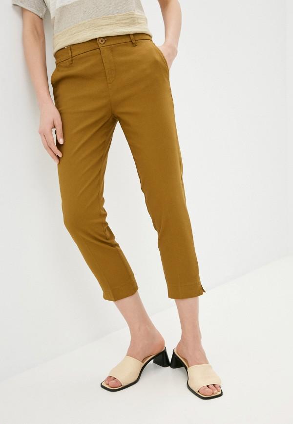 женские зауженные брюки united colors of benetton, коричневые