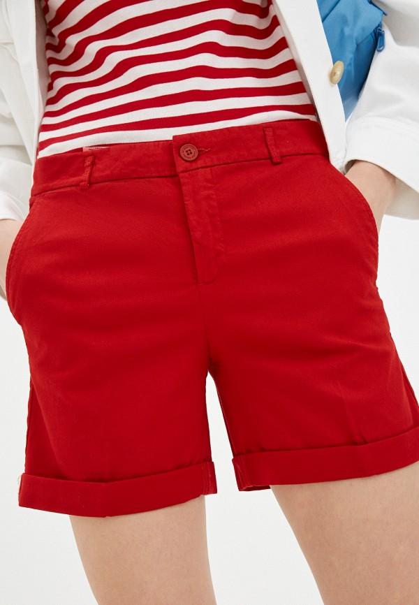 женские повседневные шорты united colors of benetton, красные