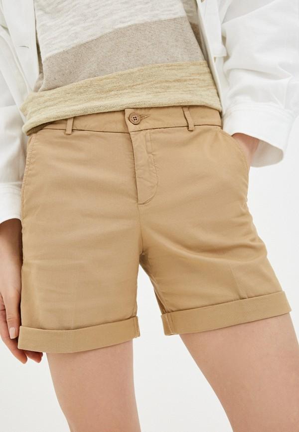 женские повседневные шорты united colors of benetton, бежевые