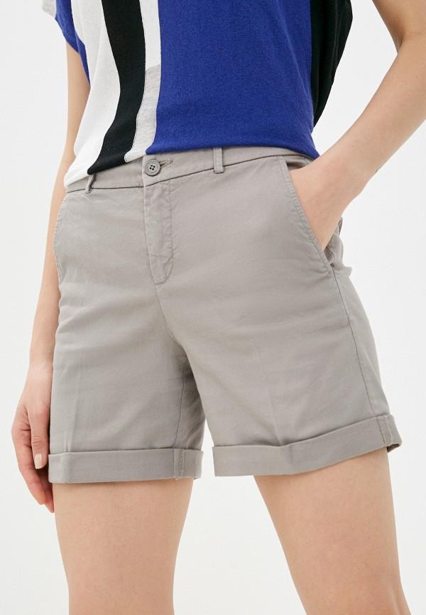женские повседневные шорты united colors of benetton, серые