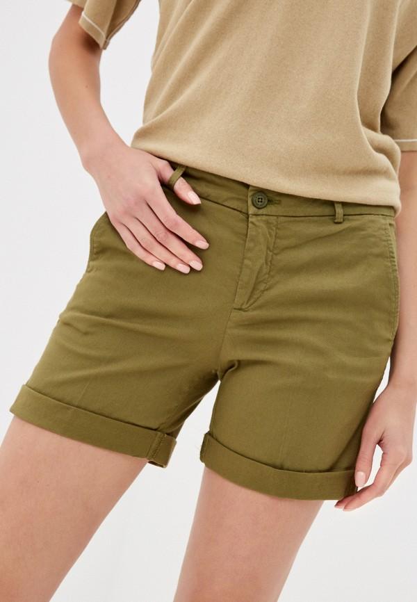 женские повседневные шорты united colors of benetton, хаки