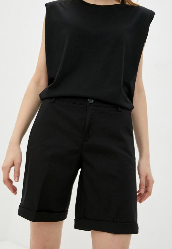 женские повседневные шорты united colors of benetton, черные