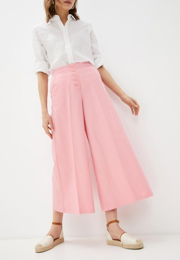 женские брюки кюлоты united colors of benetton, розовые