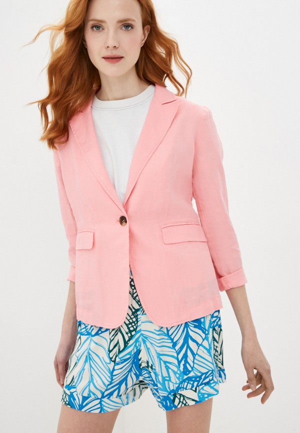 женский пиджак united colors of benetton, розовый