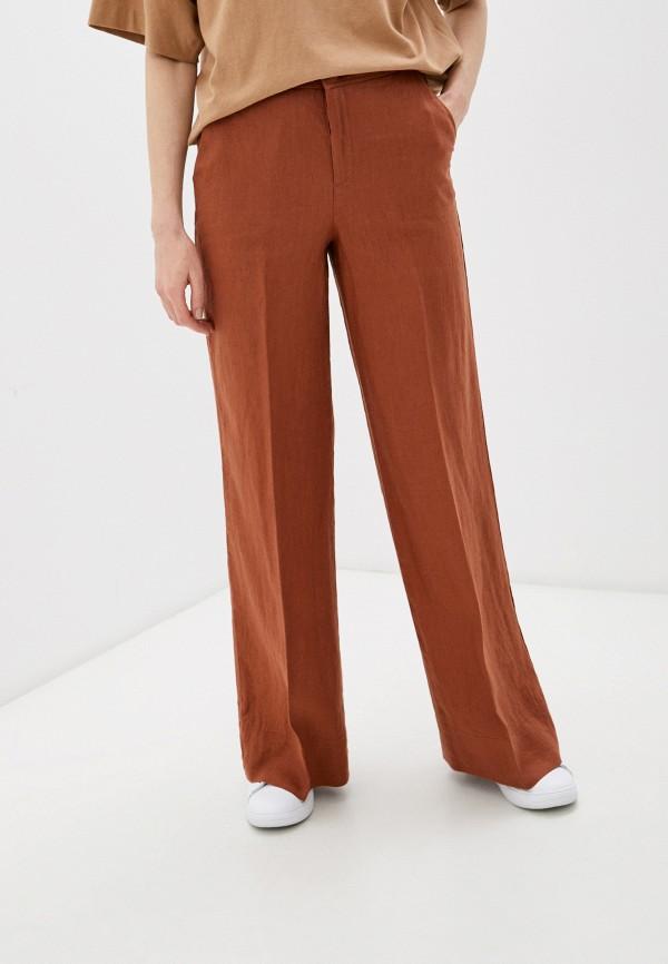 женские брюки united colors of benetton, коричневые