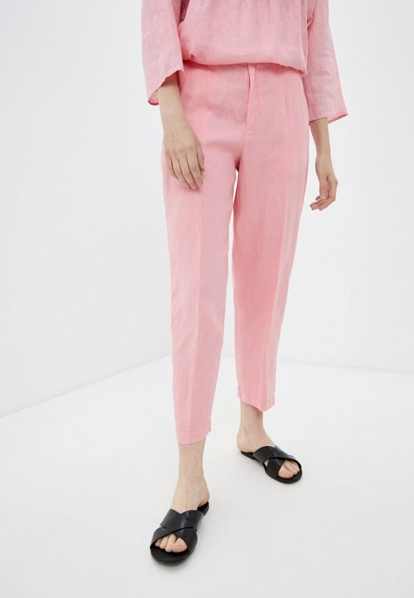женские зауженные брюки united colors of benetton, розовые