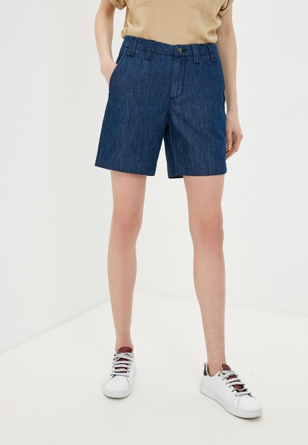 женские джинсовые шорты united colors of benetton, синие