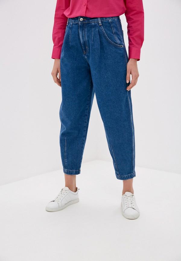 женские джинсы клеш united colors of benetton, синие