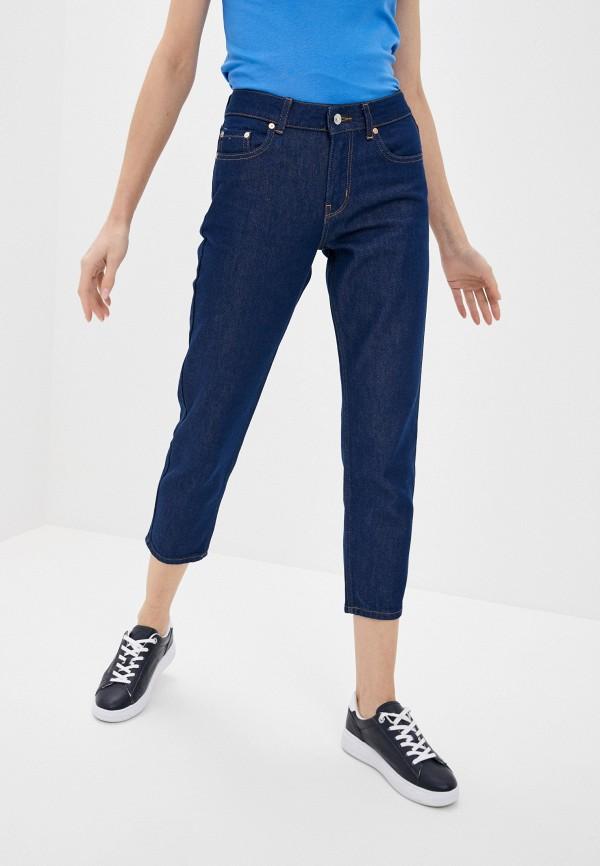 женские прямые джинсы united colors of benetton, синие