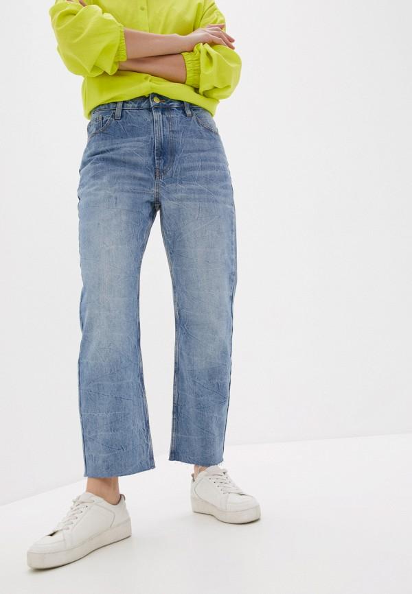 женские джинсы-мом united colors of benetton, голубые