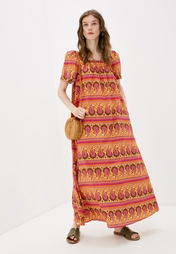 женское повседневные платье united colors of benetton, разноцветное