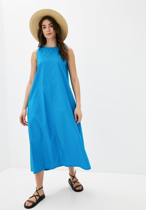 женское повседневные платье united colors of benetton, голубое