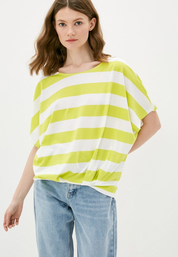 женская футболка united colors of benetton, разноцветная