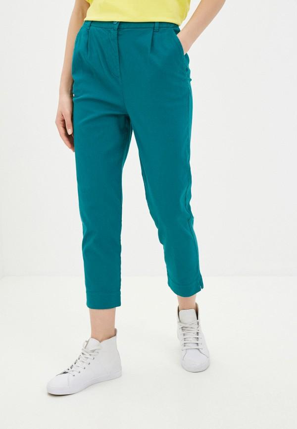 женские прямые брюки united colors of benetton, зеленые