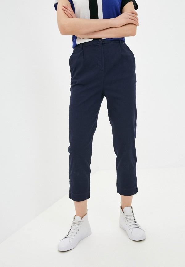 женские зауженные брюки united colors of benetton, синие