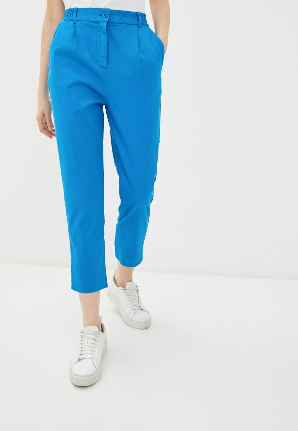 женские зауженные брюки united colors of benetton, голубые