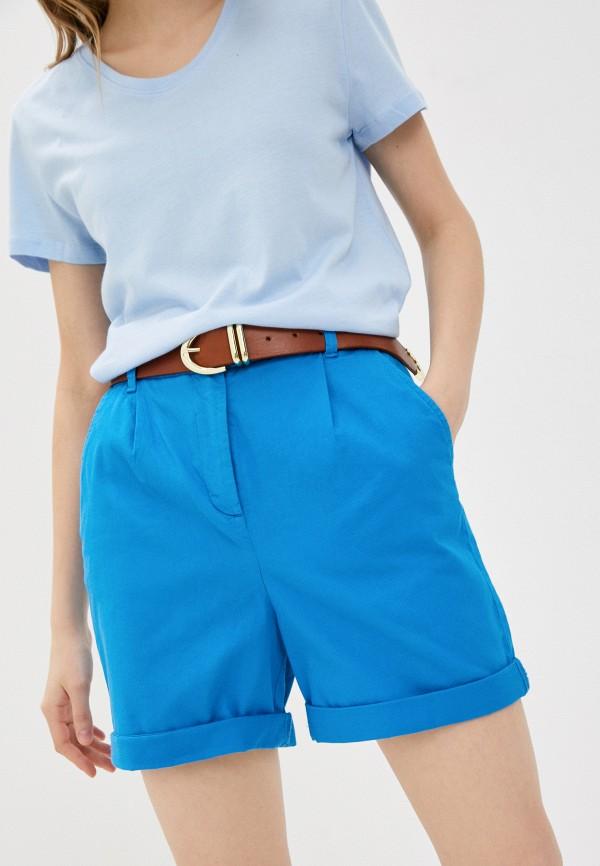 женские повседневные шорты united colors of benetton, голубые