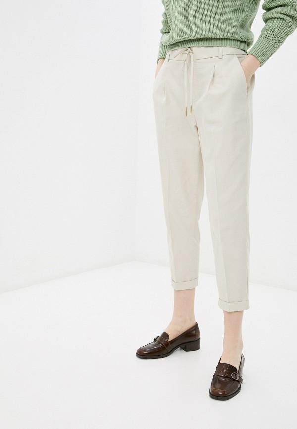 женские брюки джоггеры united colors of benetton, бежевые