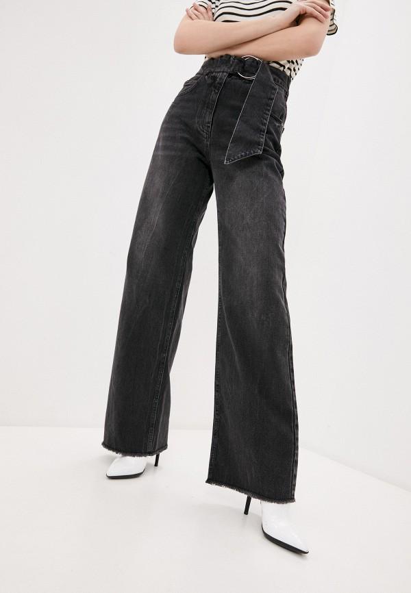 женские джинсы клеш sisley, серые