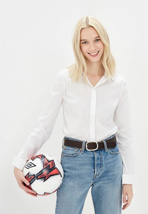Фото 8 - женскую рубашку United Colors of Benetton белого цвета