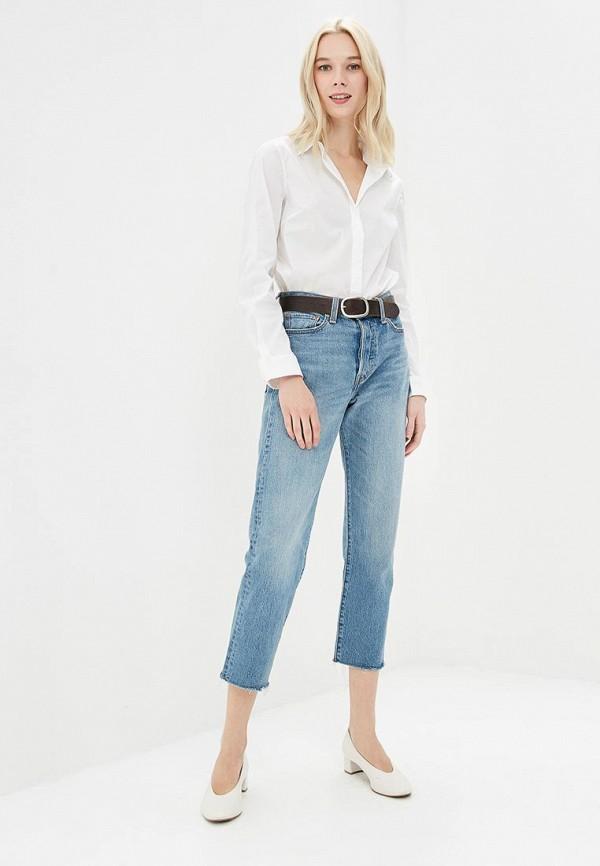 Фото 2 - женскую рубашку United Colors of Benetton белого цвета