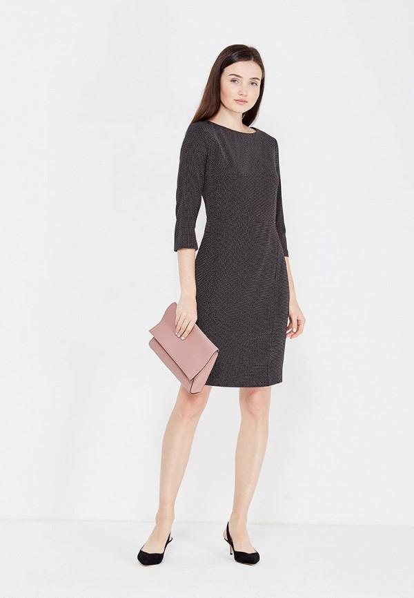 Фото 2 - женское платье United Colors of Benetton серого цвета